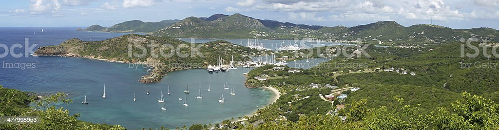 English Harbour and Nelsons Dockyard, Antigua and Barbuda, Caribbean stock photo