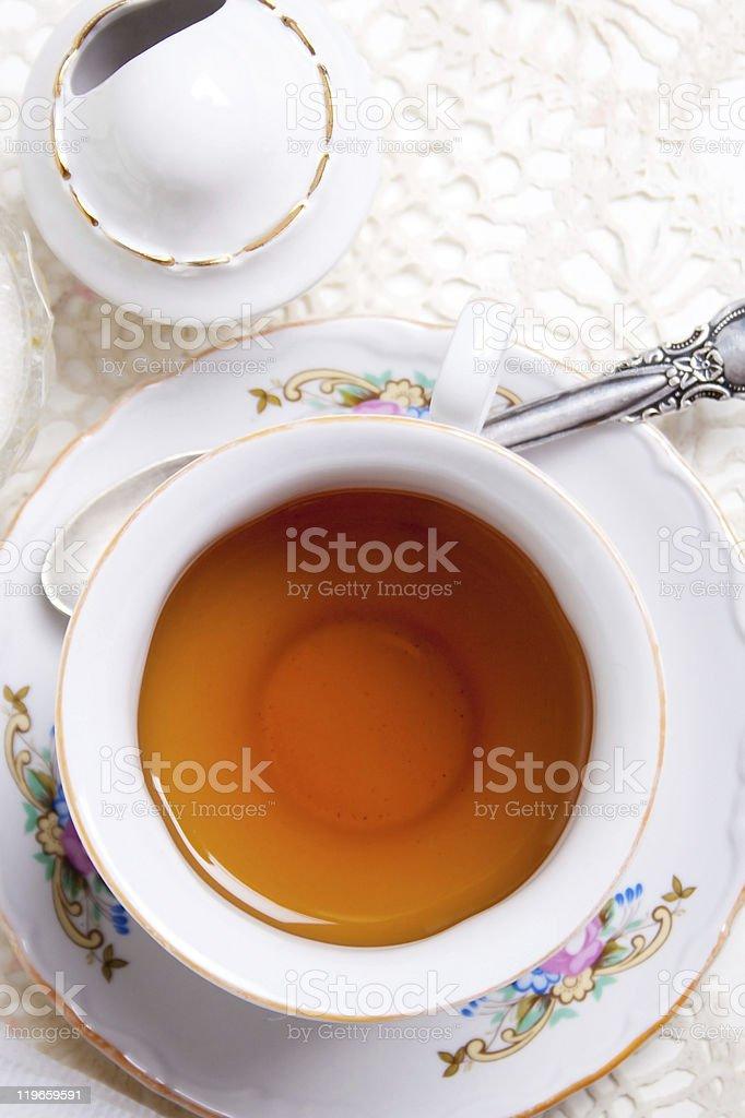 El té inglés foto de stock libre de derechos