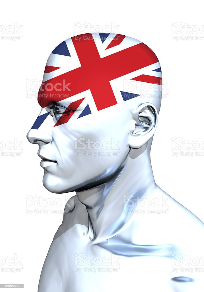 English Hooligan Head stock photo