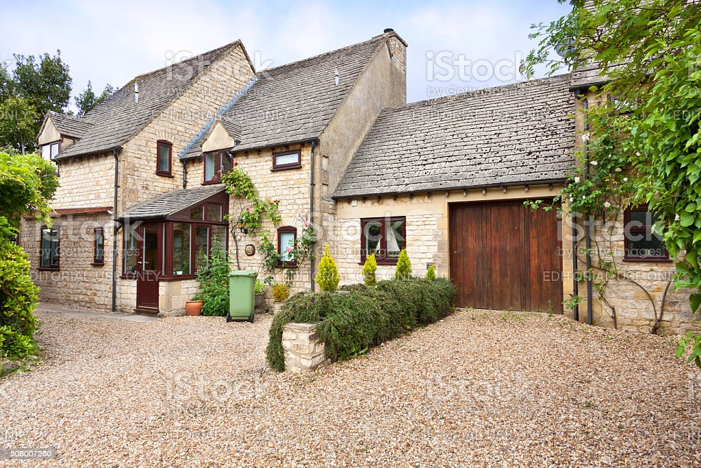 English House in Stow-on-the-Wold, Cotswold, England, United Kingdom. stock photo