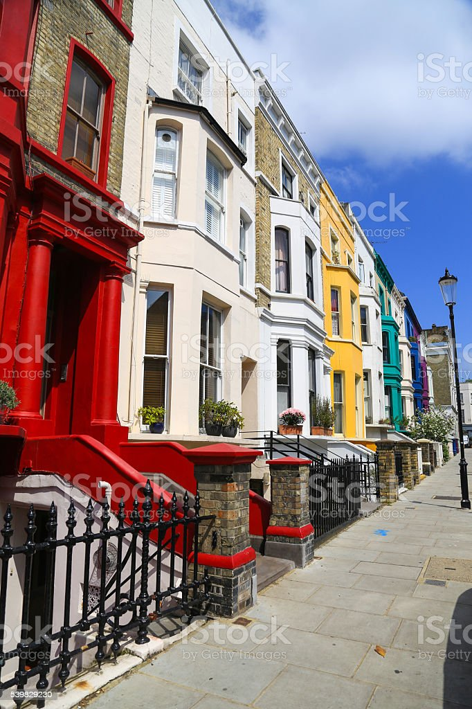 English House, Variegated, front door, stock photo
