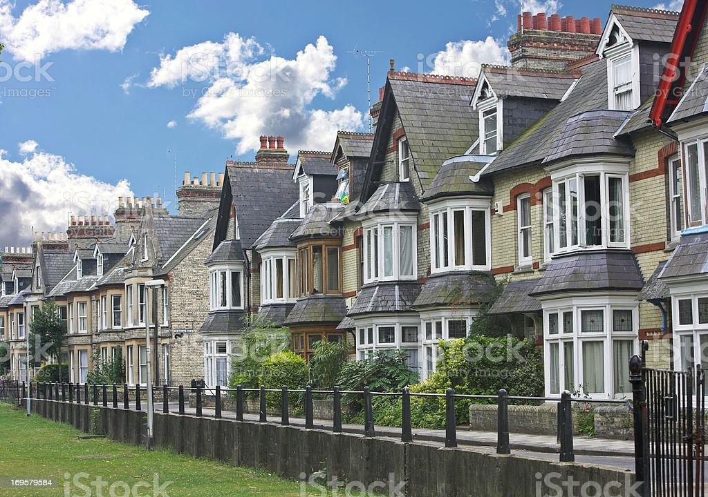English houses stock photo