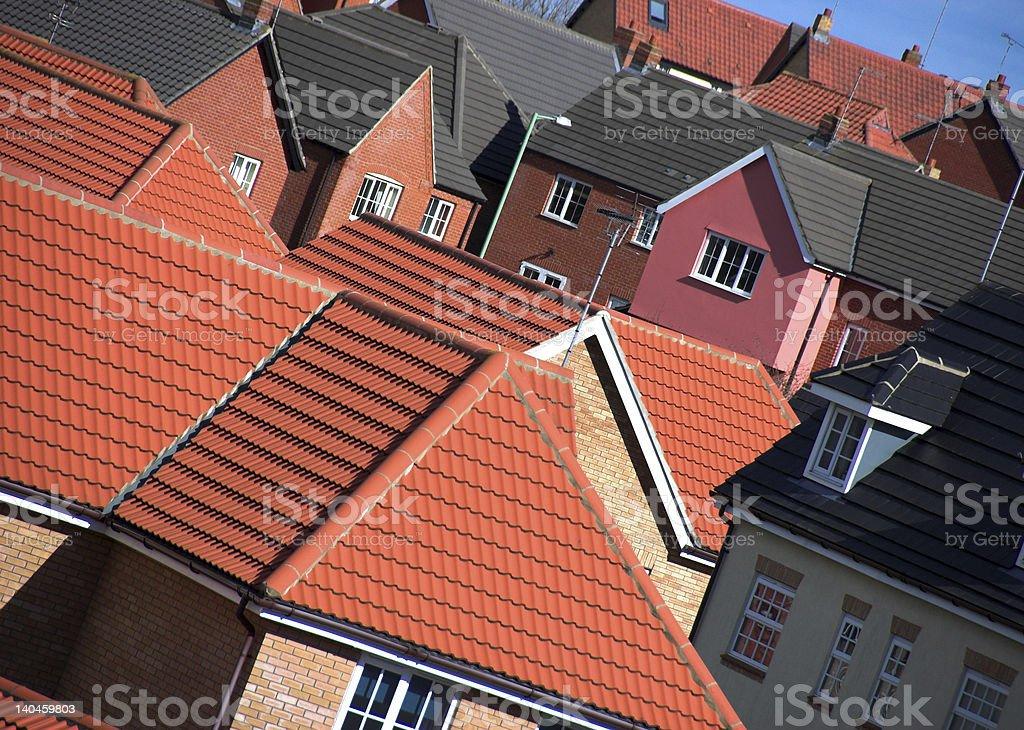 English Housing Development royalty-free stock photo
