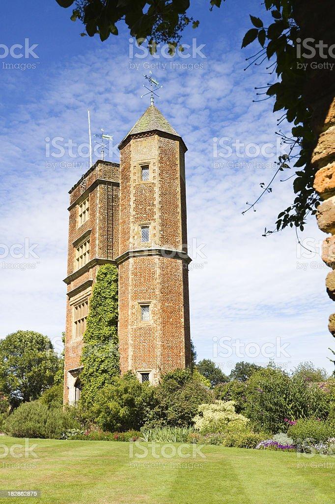English Hunting Tower stock photo