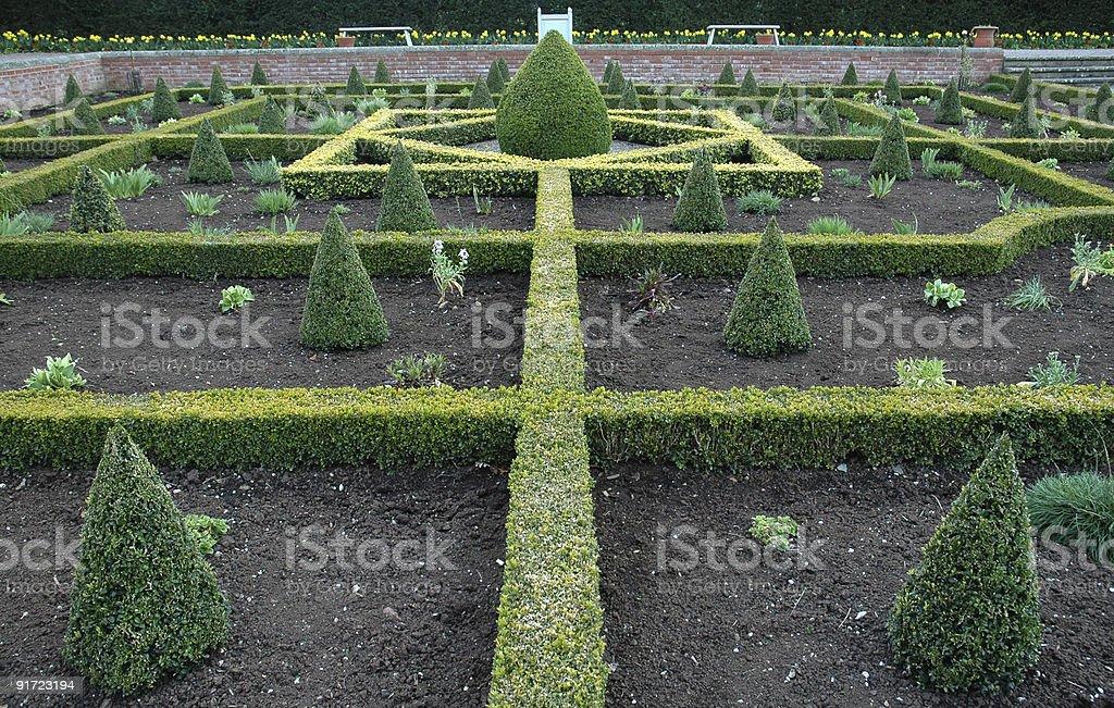 English Knot Garden stock photo