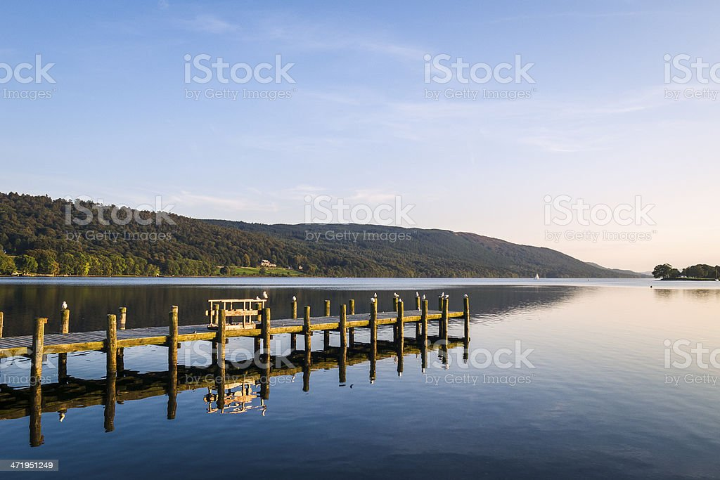 English Lake District: Coniston Water royalty-free stock photo
