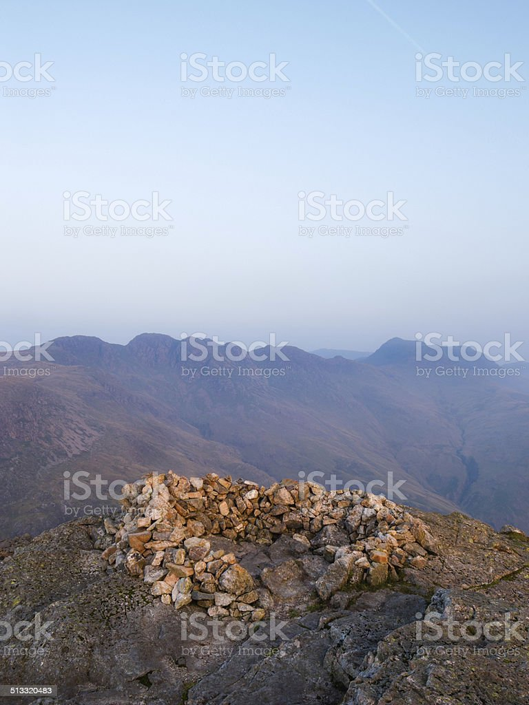 English Lake District: dawn on Pike of Blisco stock photo