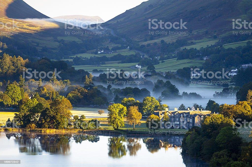 English Lake District: Grasmere sunrise stock photo