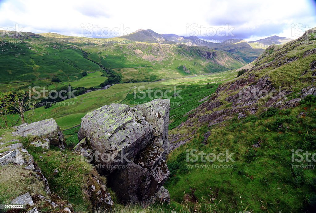 English Lake District Hardknott Roman Fort stock photo