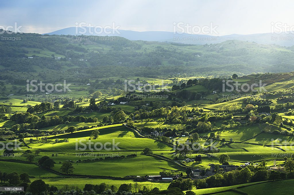 English Lake District: Lyth Valley stock photo