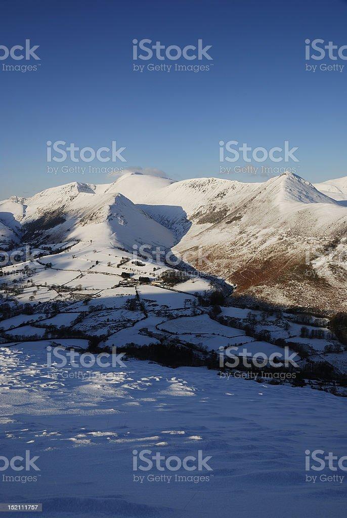 English Lake District mountains in winter royalty-free stock photo
