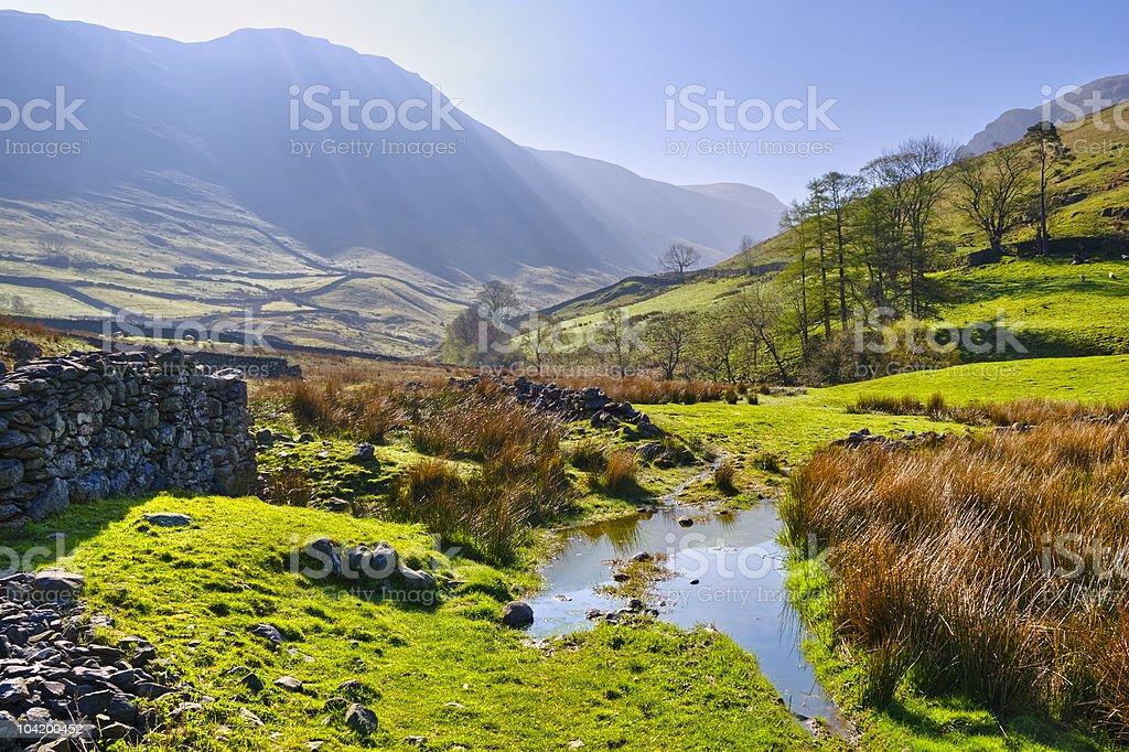English Lake District Park stock photo