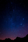 English Lake District: starry night sky over Ambleside