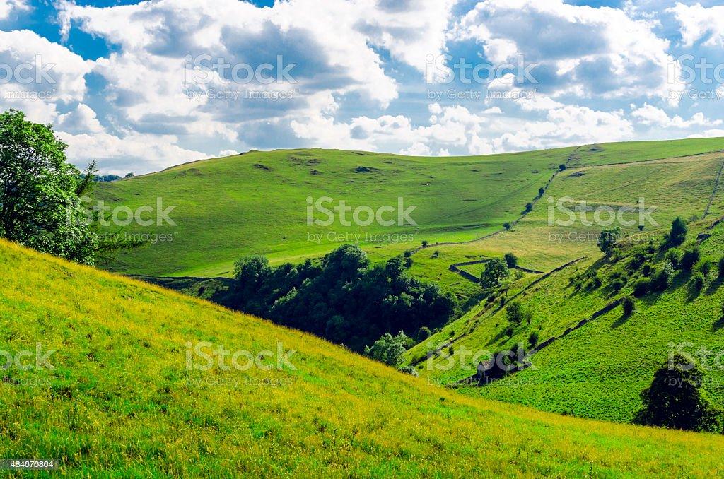 English landscape in the Peak district stock photo