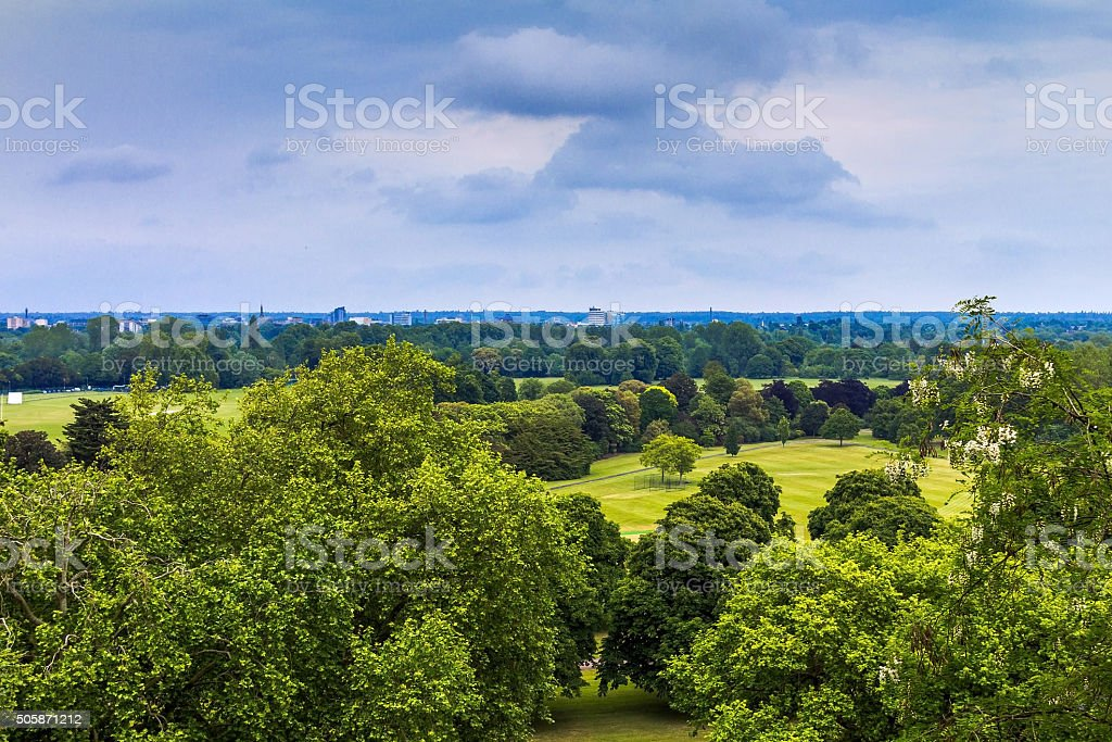 English landscape near Windsor Castle stock photo