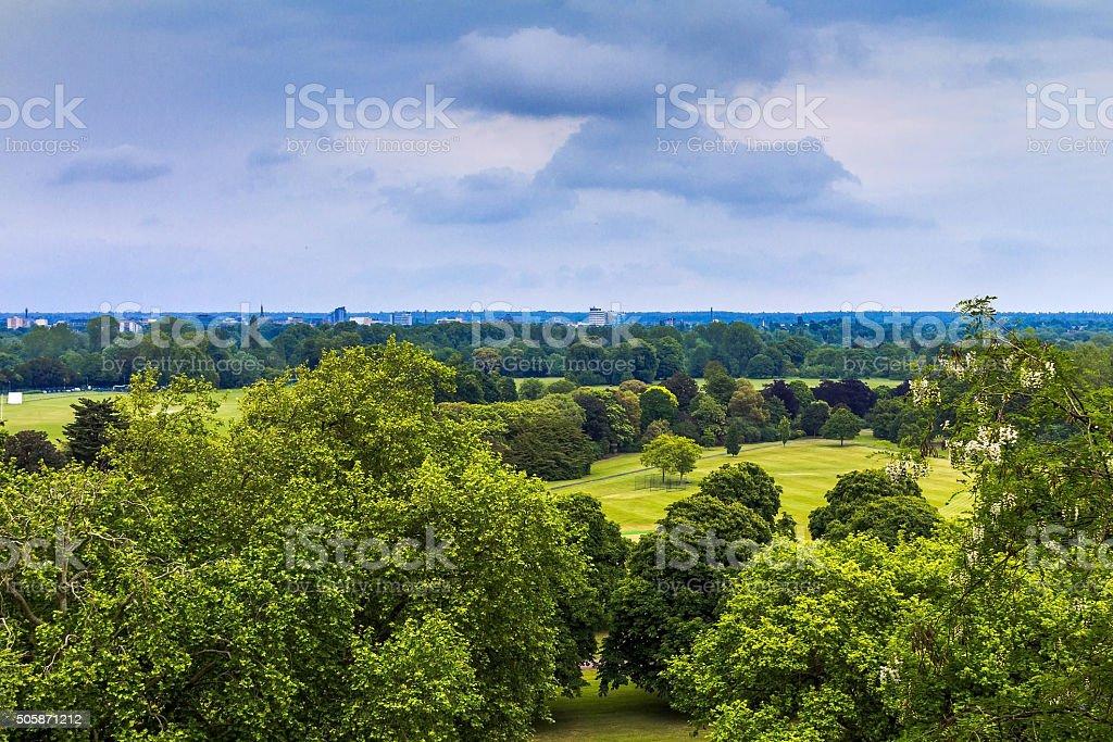 English landscape near Windsor Castle stock photo