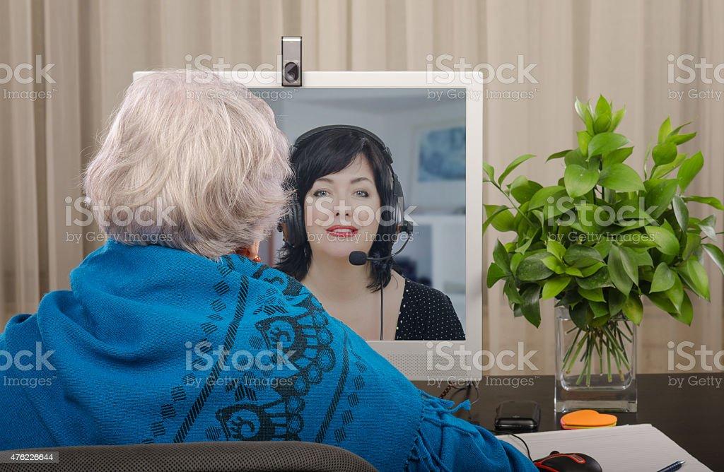English language learner online stock photo