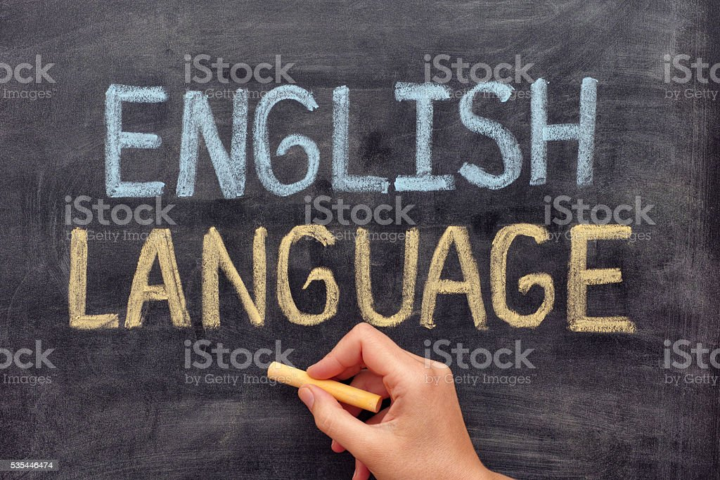 English language stock photo
