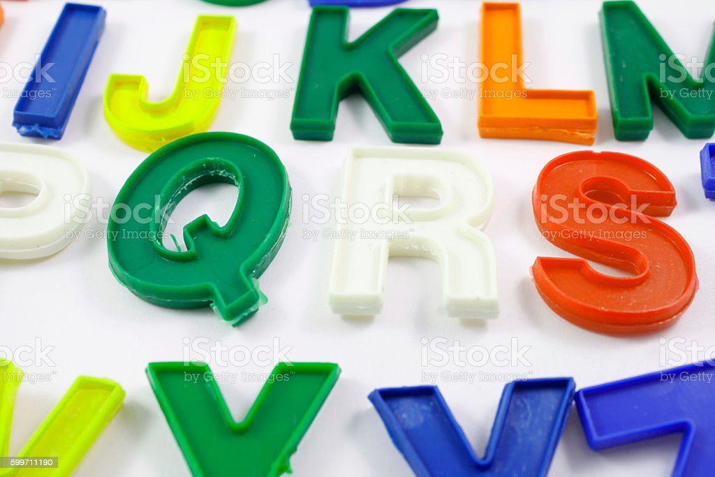 English letters stock photo