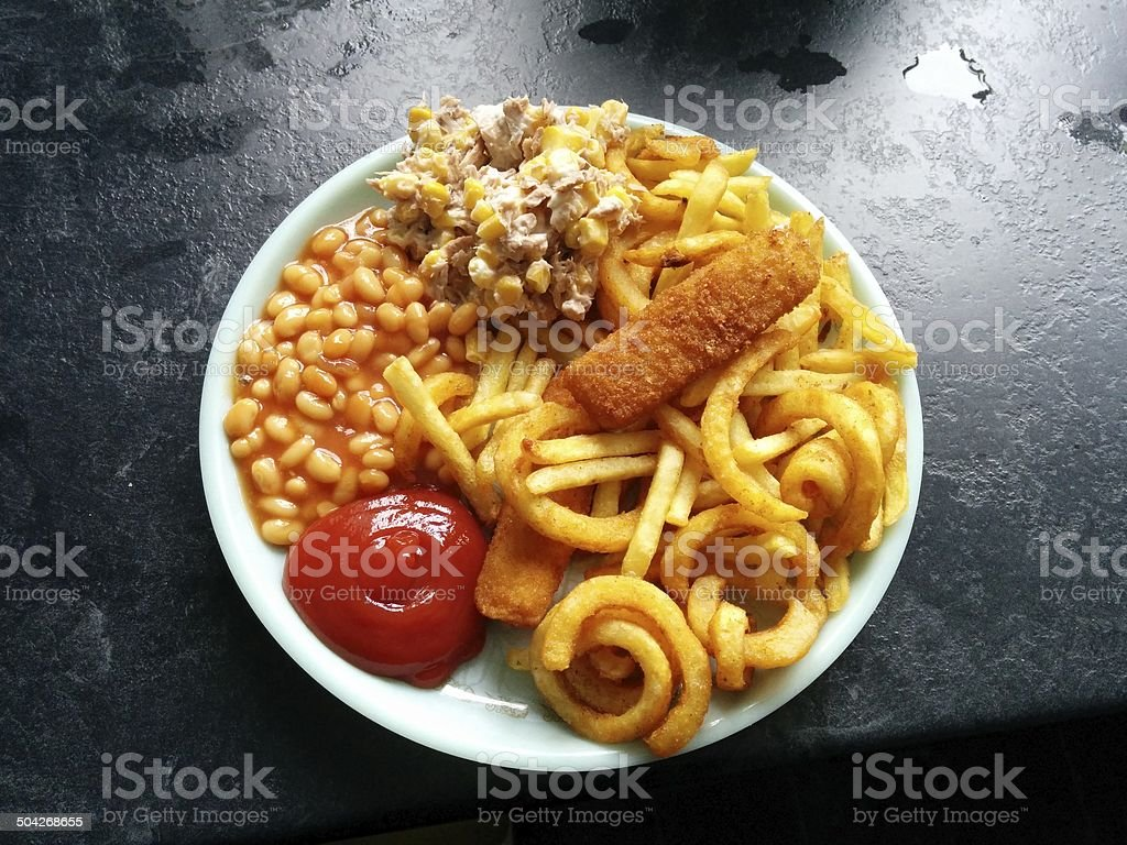 English lunch stock photo