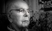 English man portrait 95 years old