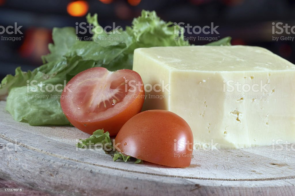 English Mature Cheddar cheese royalty-free stock photo