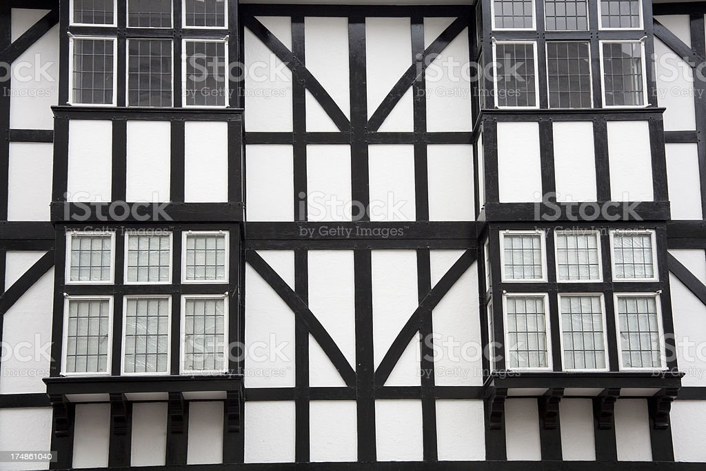 English Medieval Building royalty-free stock photo