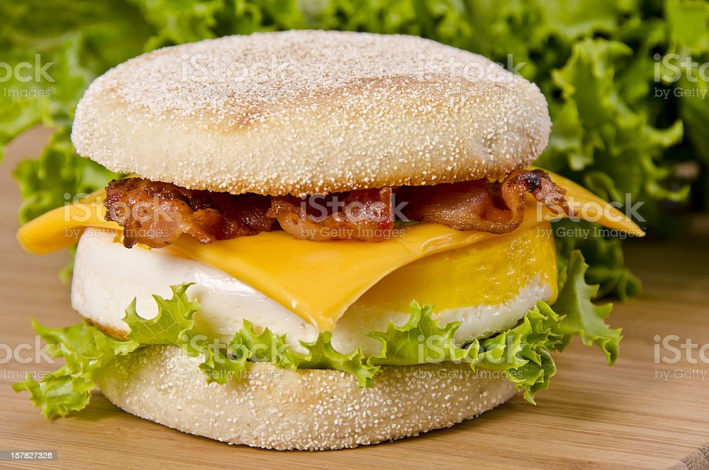 English muffin breakfast stock photo