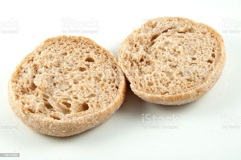 English muffin stock photo
