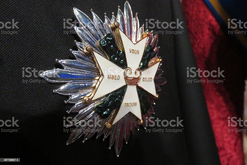 English nobility medal stock photo