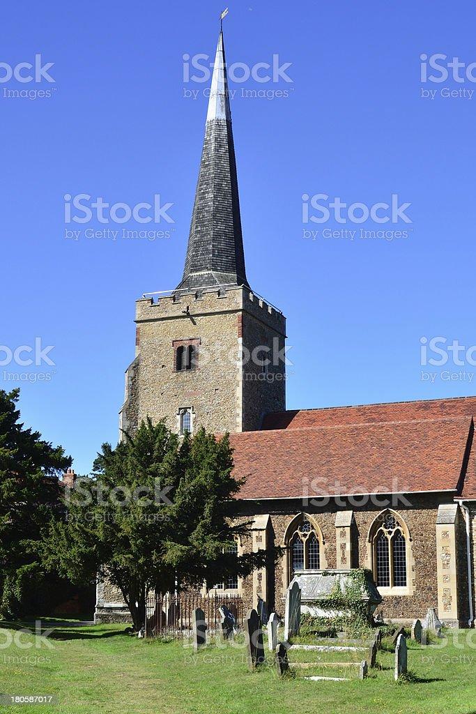 English Parish Church in portrait royalty-free stock photo