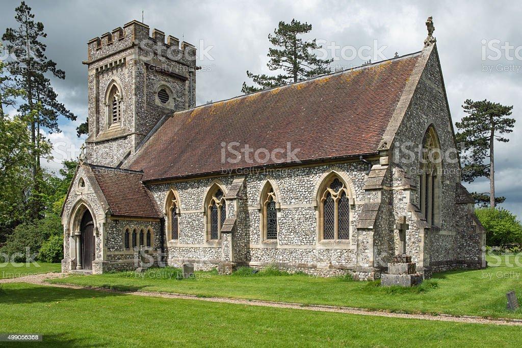 English Parish Church, stock photo