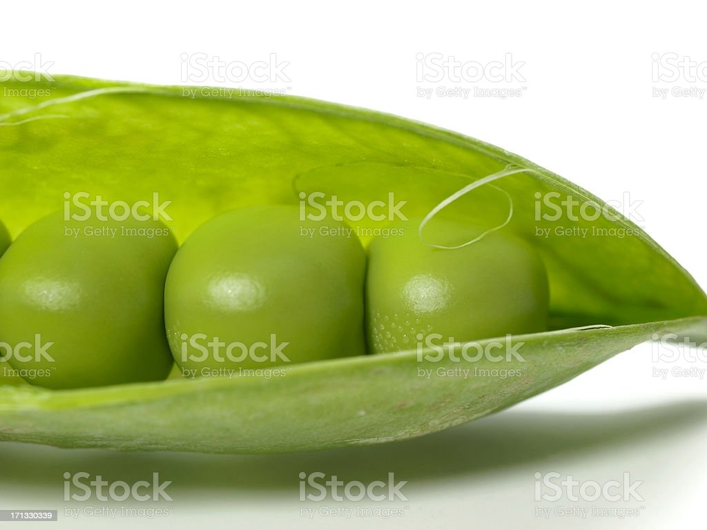 English Peas In Pod (organic) stock photo