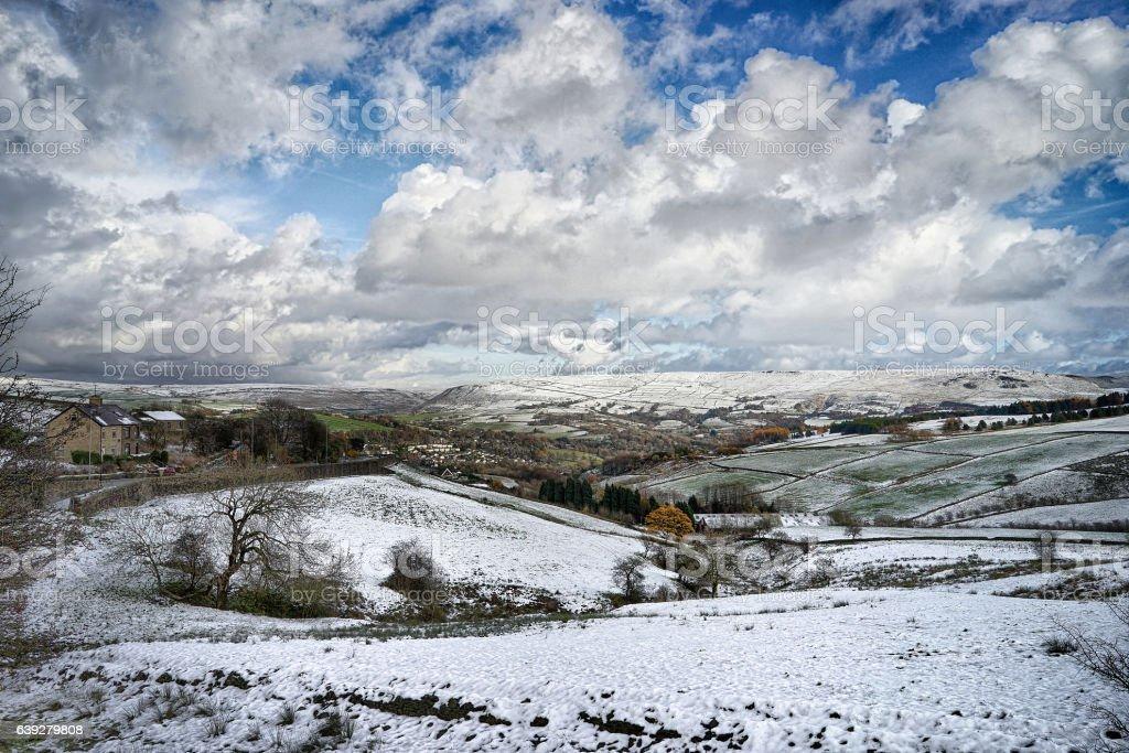 English Pennine Winter View stock photo