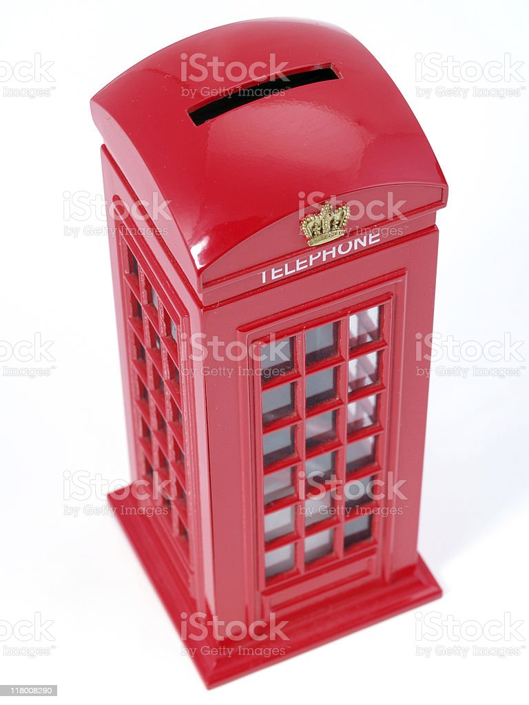 English Phone Booth royalty-free stock photo