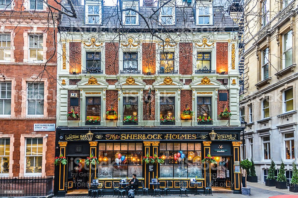 English Pub in London stock photo