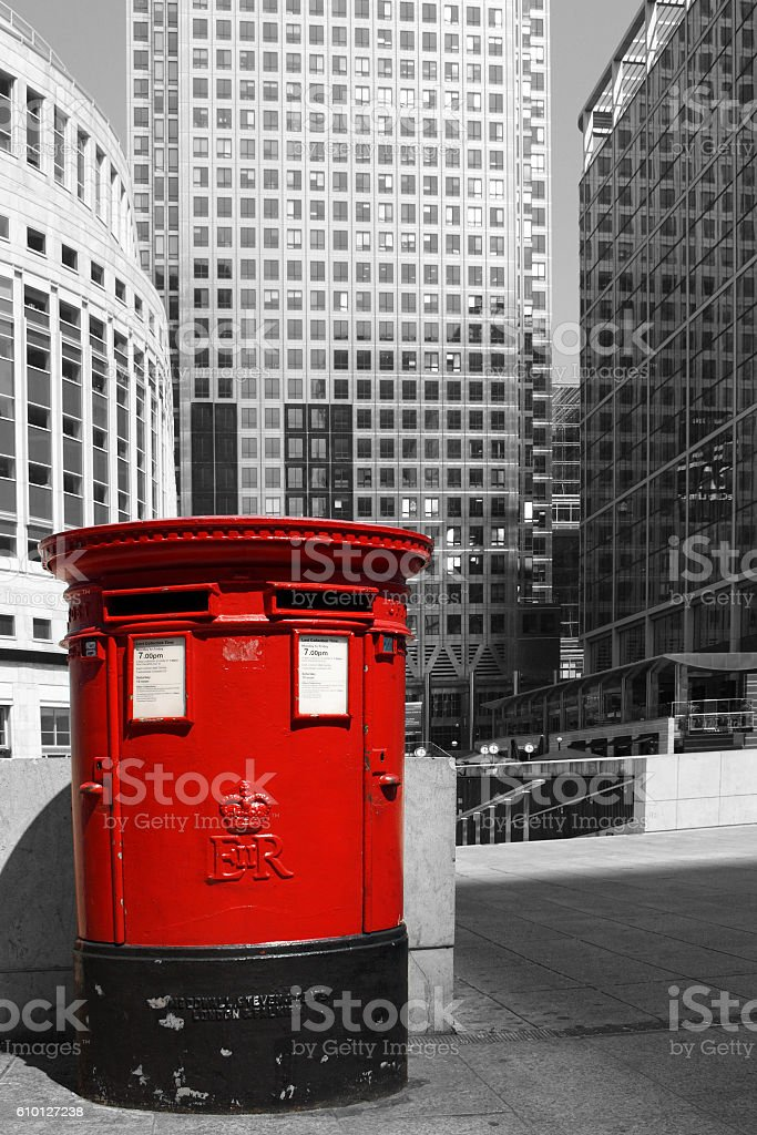 English red pillar box - London stock photo
