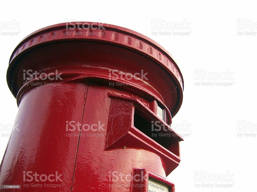 English Red Post Box royalty-free stock photo