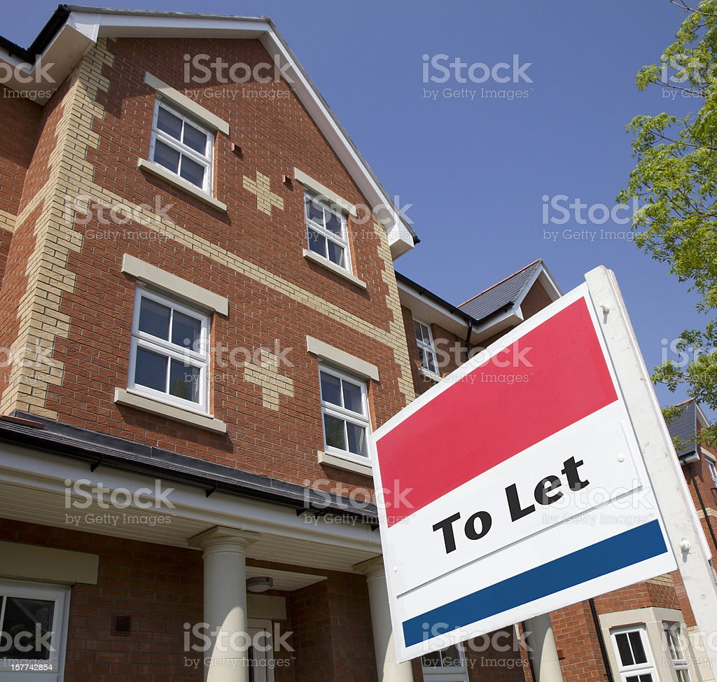 English Residential Property to Let stock photo