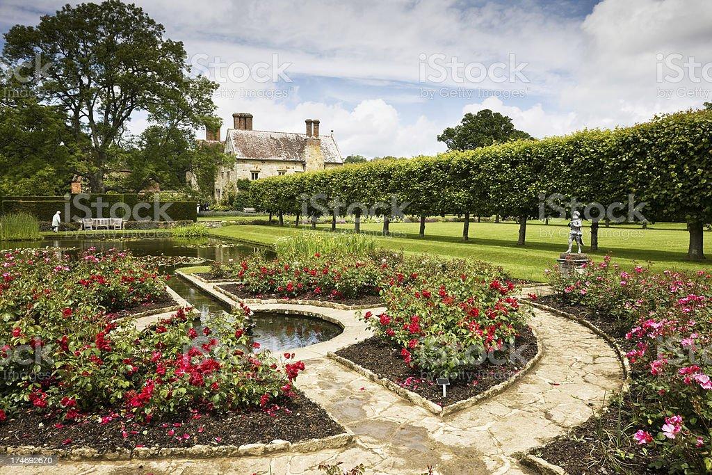 English Rose Garden stock photo