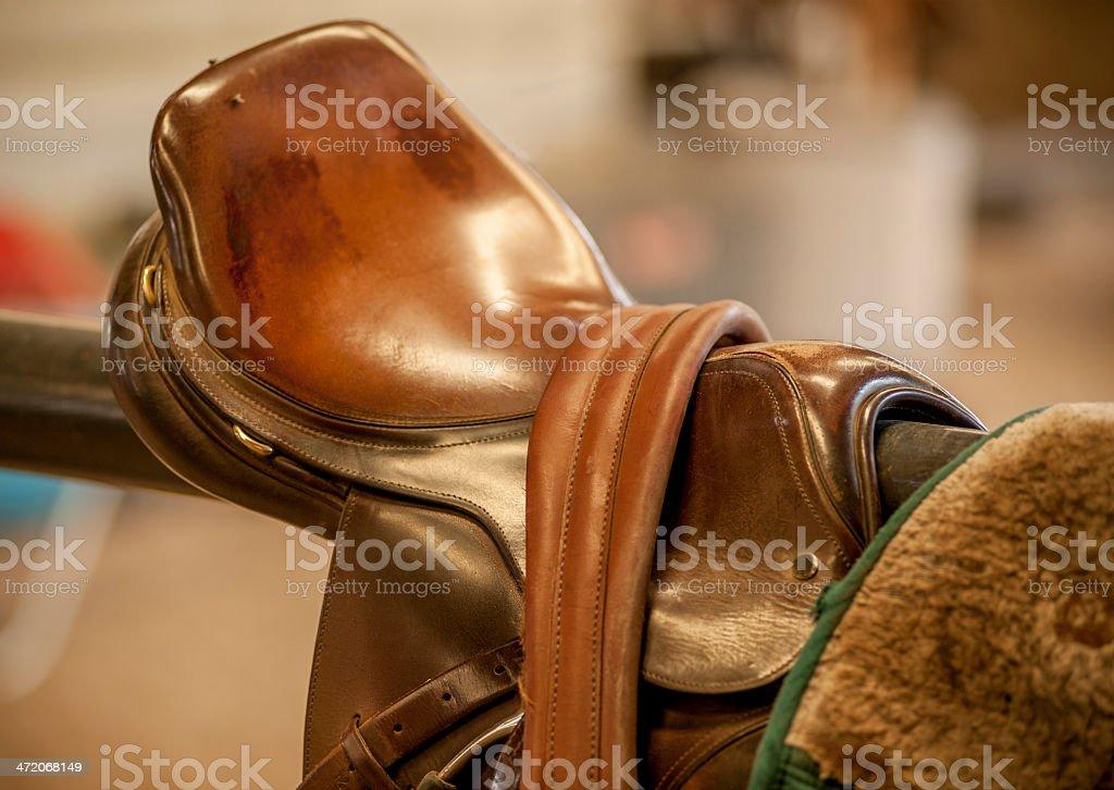 English Saddle and Girth stock photo
