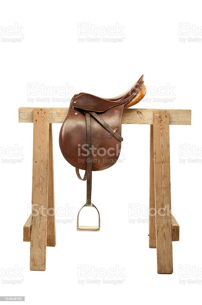 English Saddle royalty-free stock photo