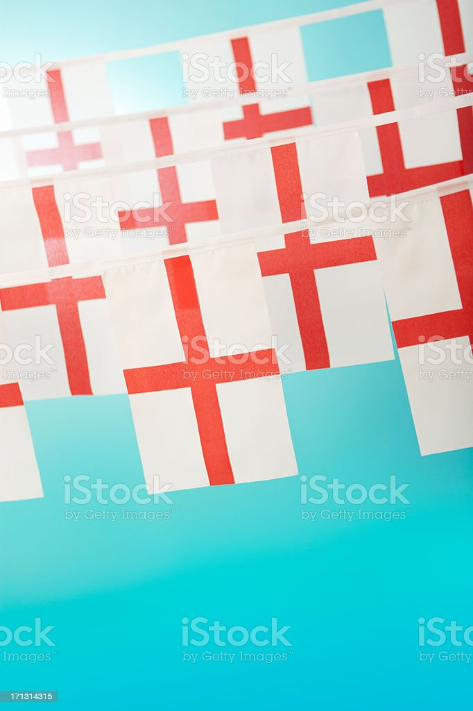 English Saint George's flag celebratory bunting royalty-free stock photo