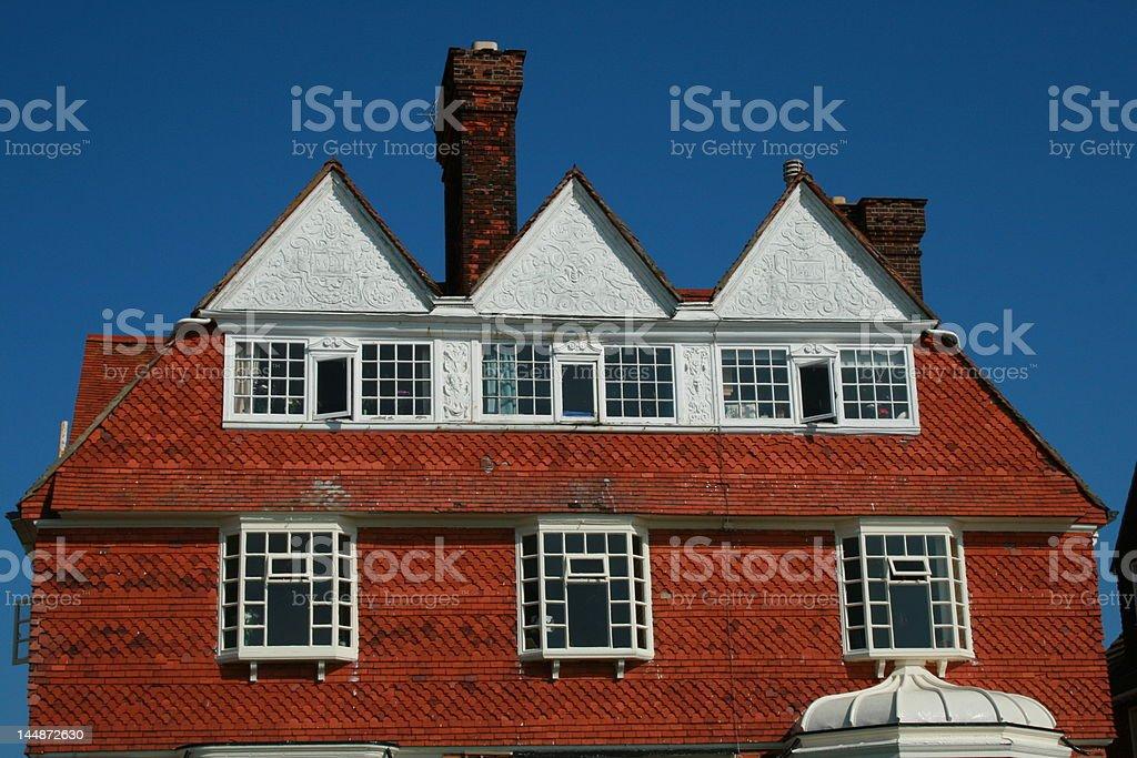 English Seaside Home stock photo