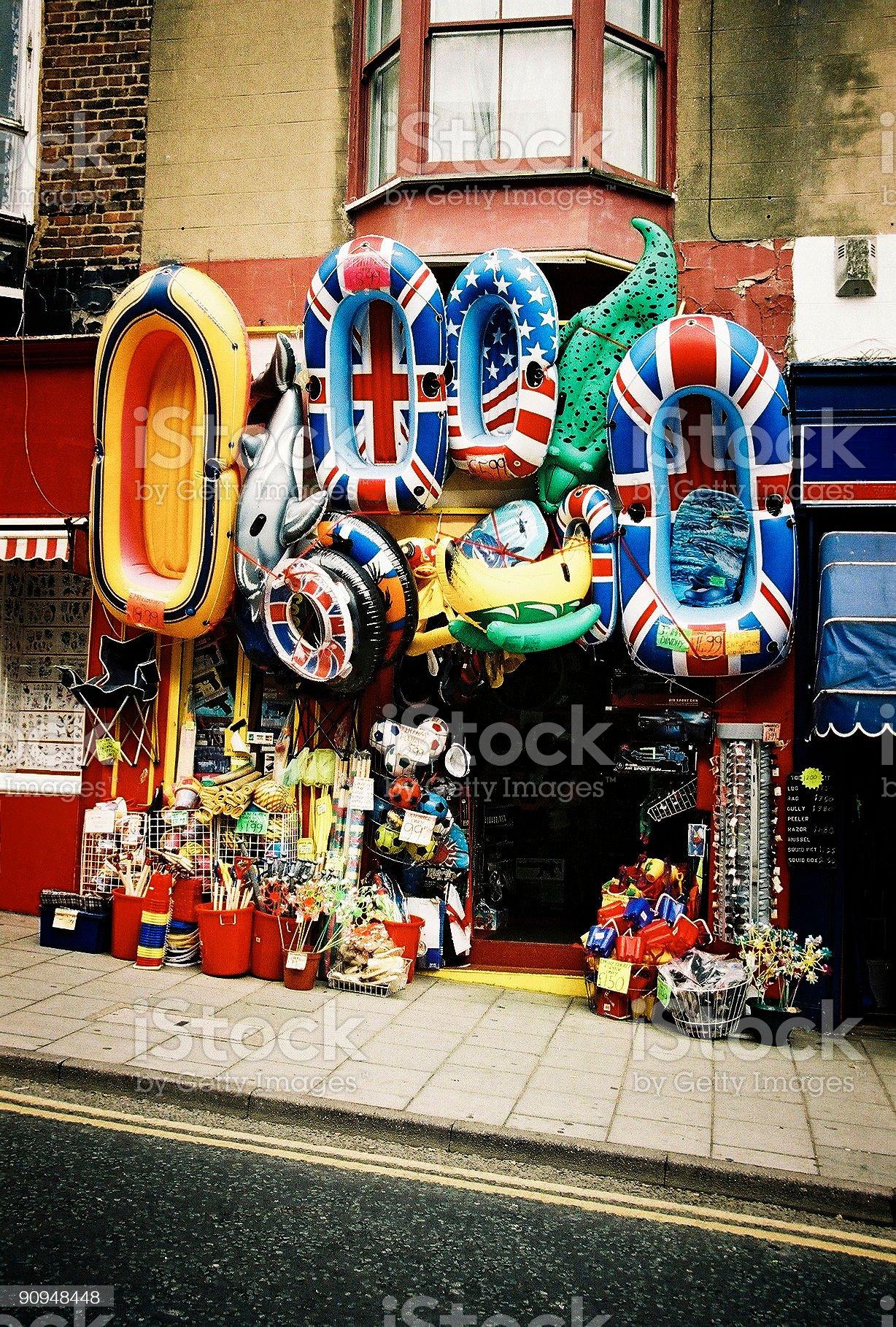 English Seaside Shop royalty-free stock photo