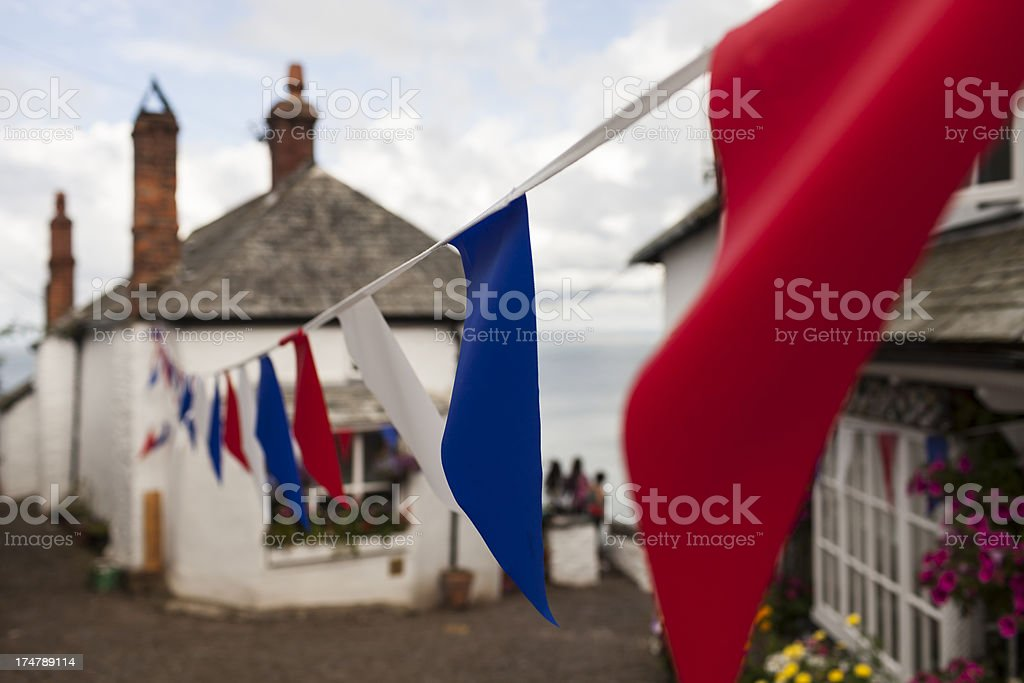 English seaside village on steep location royalty-free stock photo