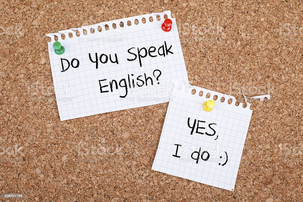 English Speaking stock photo