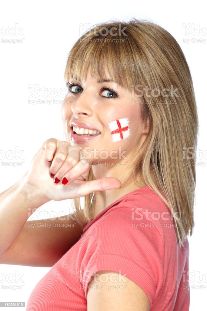 English sport's fan stock photo