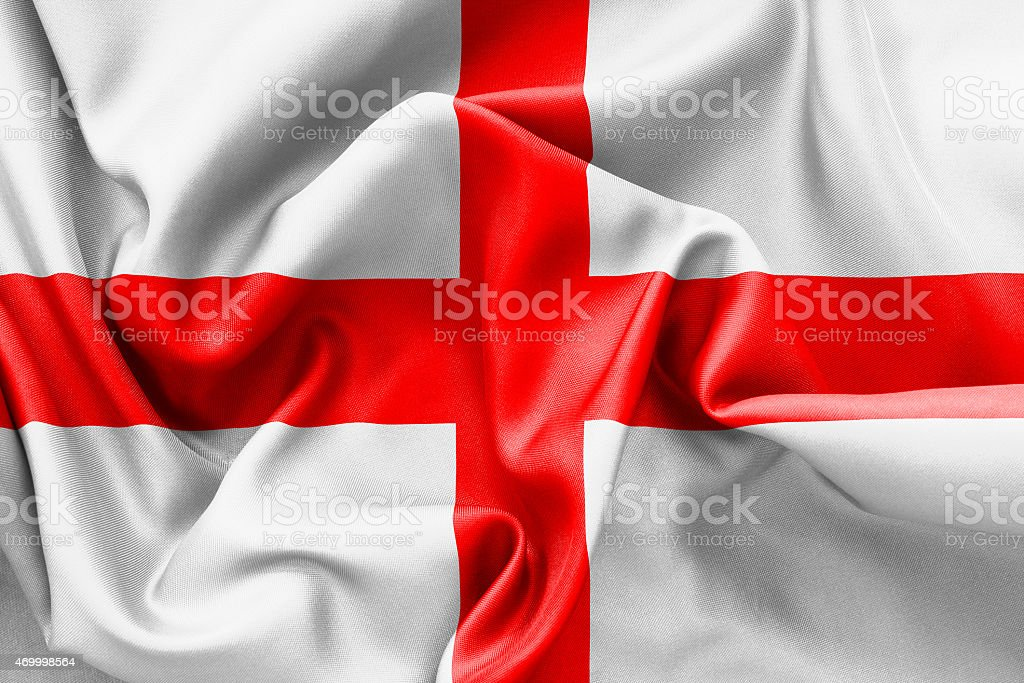 English St Georges Cross Flag stock photo