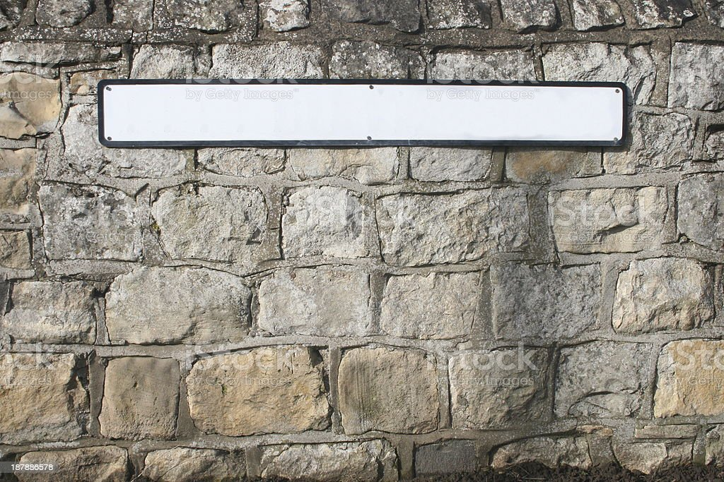 English street sign stock photo